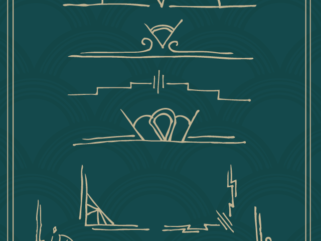 Hand Drawn Art Deco Elements