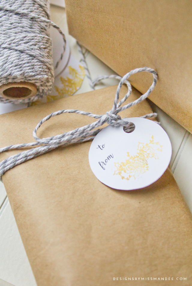 Gold Foil Holiday Tags