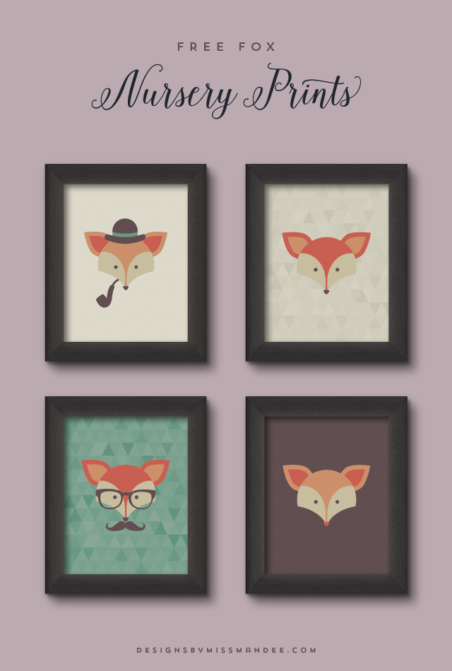 Free Fox Nursery Prints