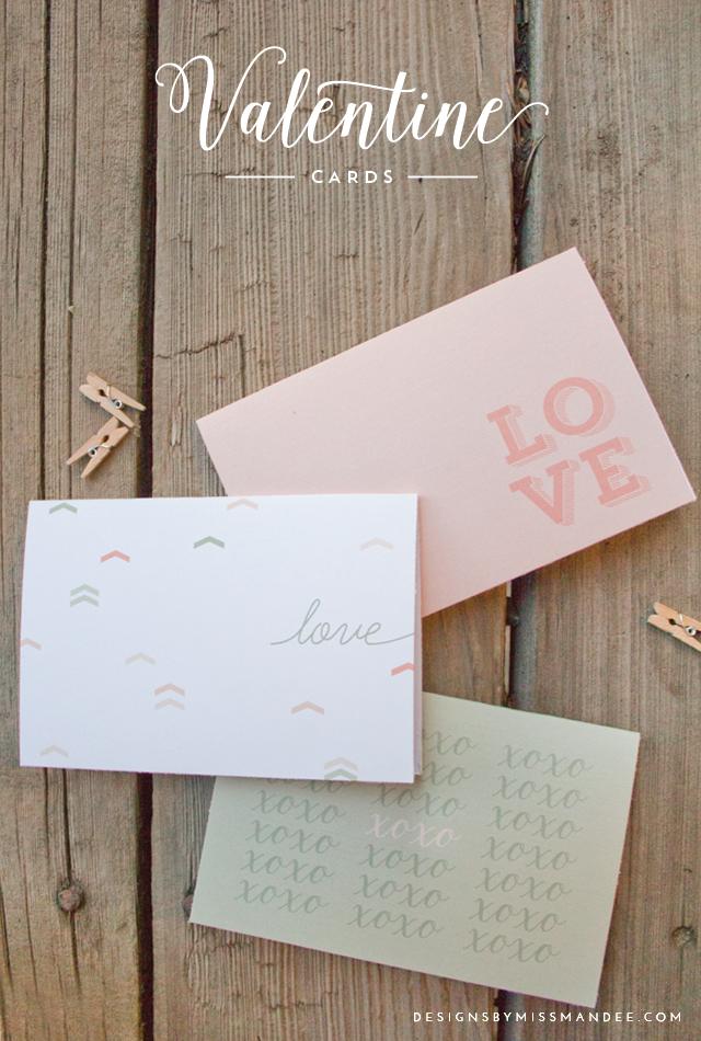 Pretty Printable Valentine Cards