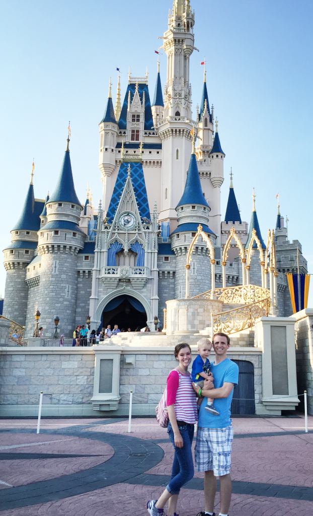The classic picture in front of the icon Cinderella Castle.