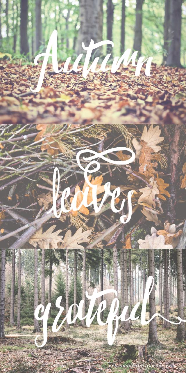 Autumn Word Overlays