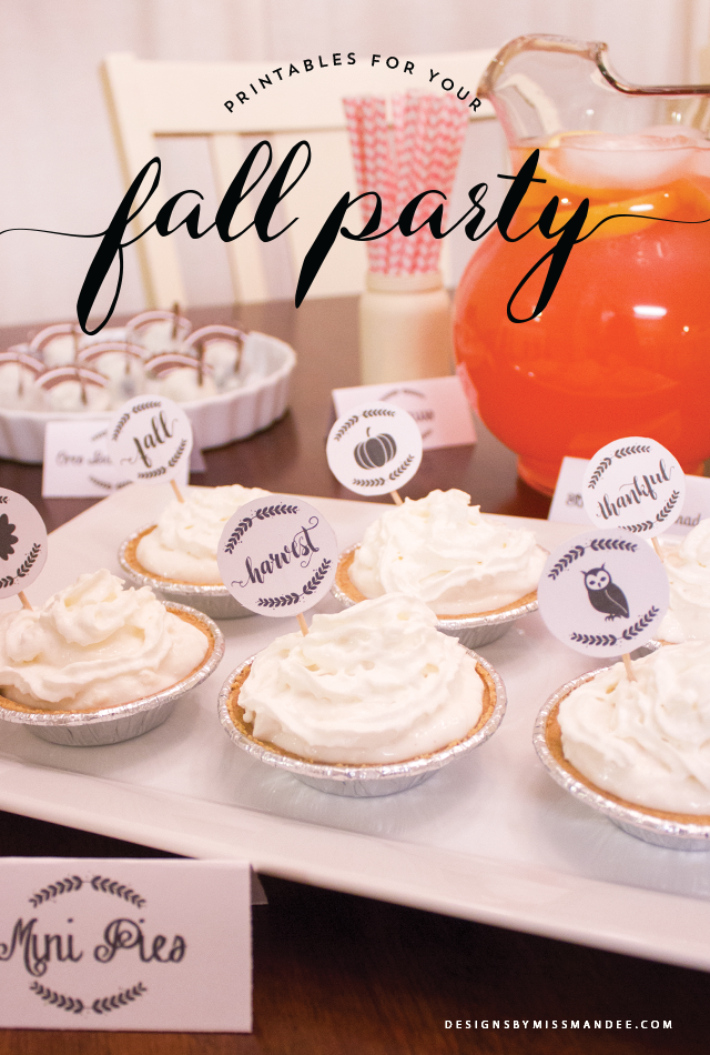 Fall Party Printables