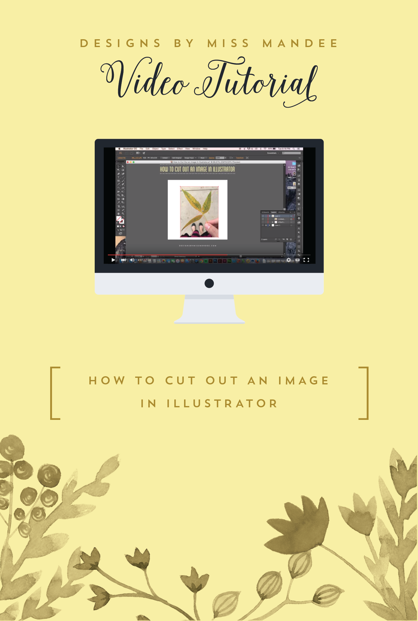 How to Cut Out an Image in Illustrator