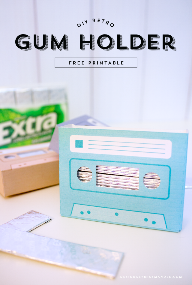 DIY Retro Gum Holder