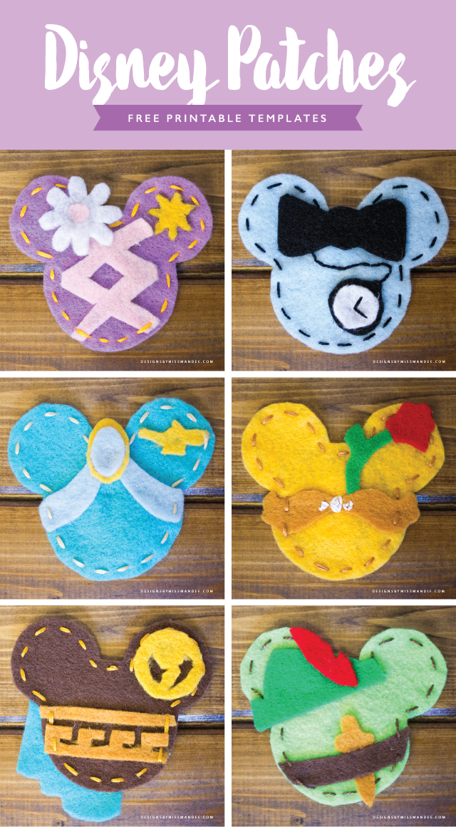 Diy Disney Patches Designs By Miss Mandee