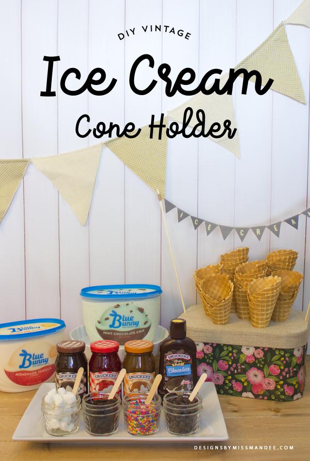 Vintage Ice Cream Cone Holder