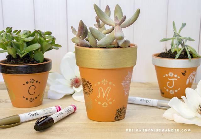 Monogram Plant Pots
