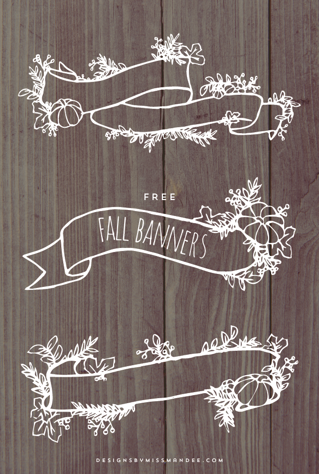 Fall Banner Graphics