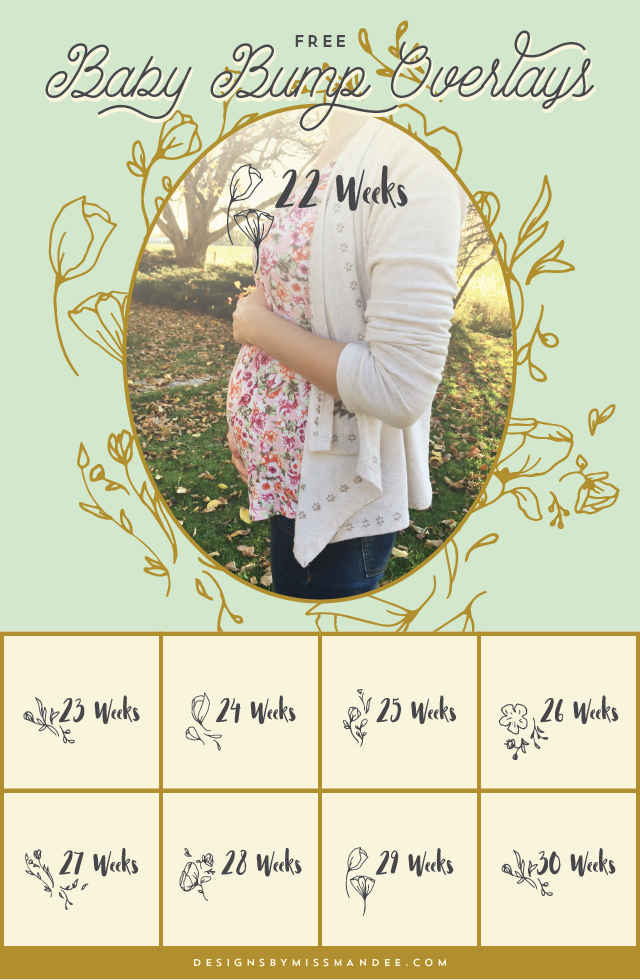 Baby Bump Photo Overlays