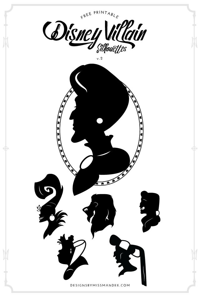 Disney Villain Silhouettes