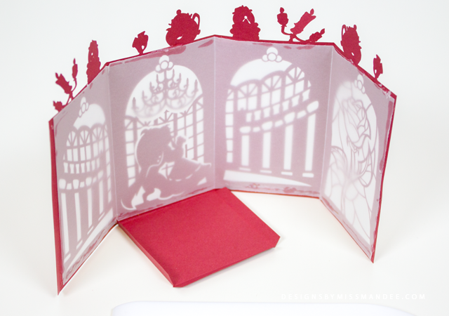 Beauty and the Beast Paper Lantern