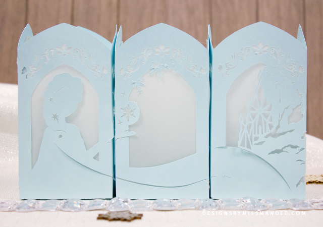 Frozen paper lantern designs by miss mandee for Paper lantern tutorial