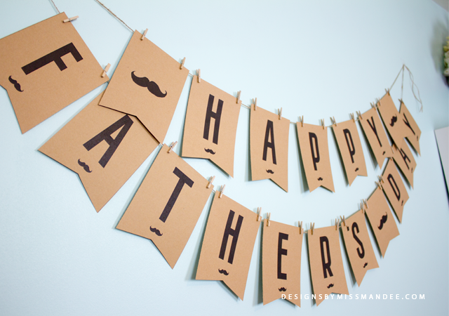 Father's Day Bunting Banner