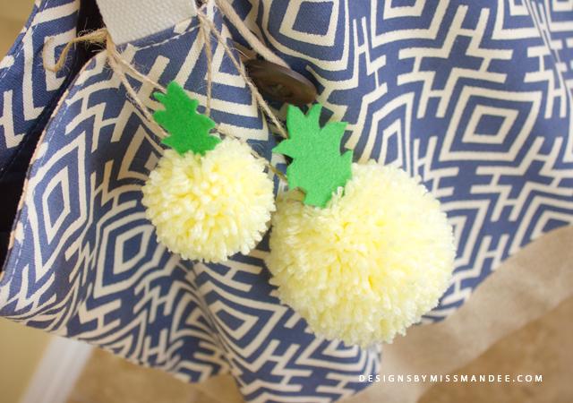 Pineapple Pom Poms