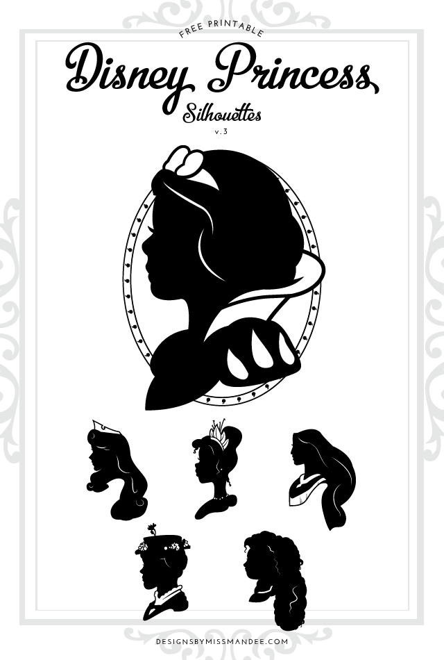 Fan image inside free printable disney silhouettes