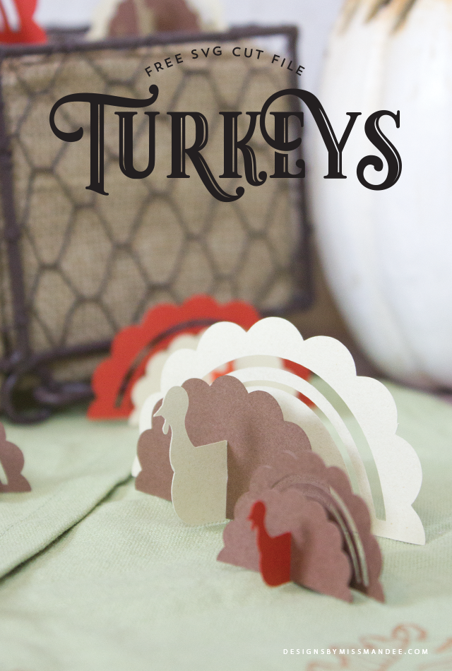 Die Cut Turkeys