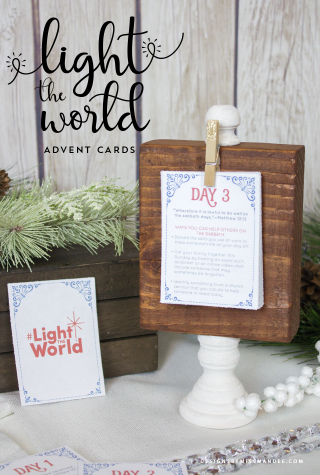 Light the World Advent Cards