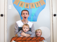 """""""Up, Up, and Away"""" Bunting Banner"""