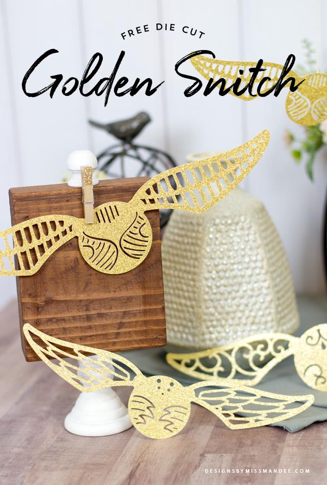Die Cut Golden Snitch