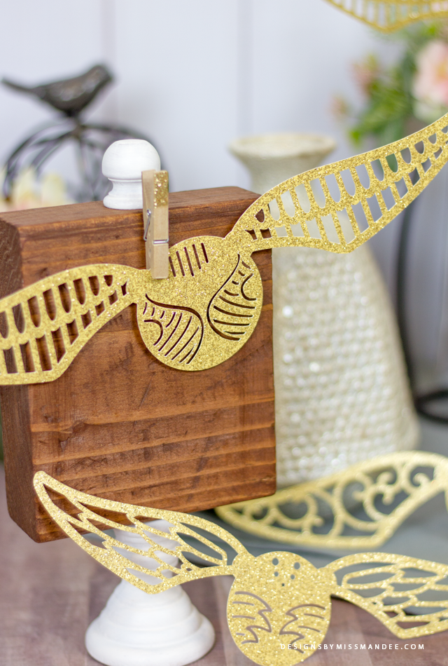 Die Cut Golden Snitch