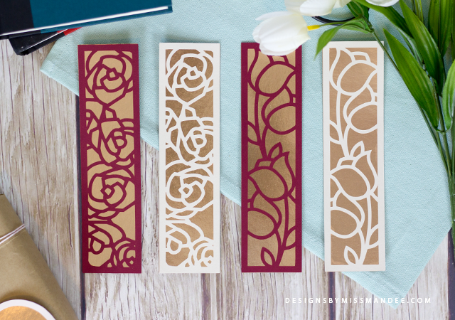 Die Cut Floral Bookmarks