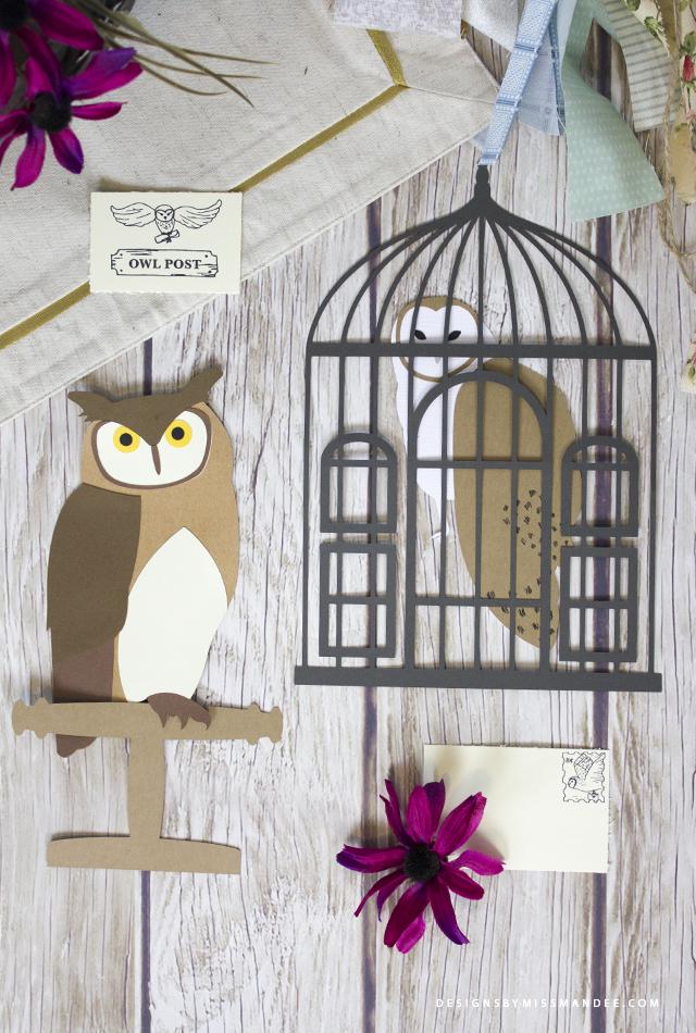Die Cut Owls