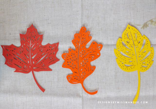Die Cut Patterned Leaves