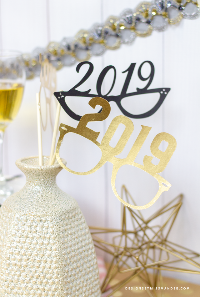 Die Cut New Year Party Glasses