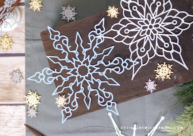 Die Cut Snowflakes