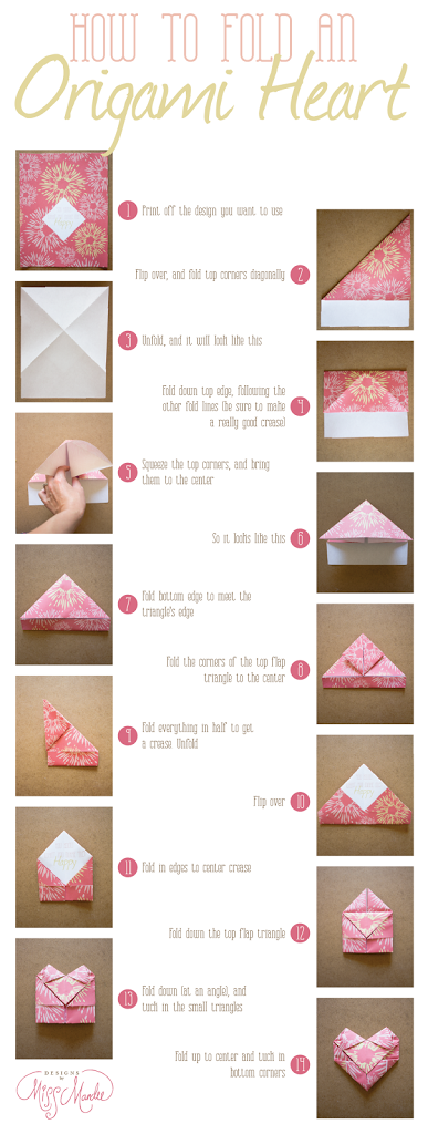 Step By Step Instructions How To Make Origami Heart Pocket ... | 1024x387