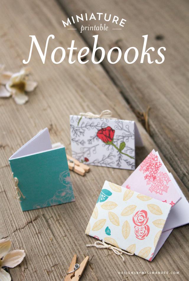 Miniature Printable Notebooks