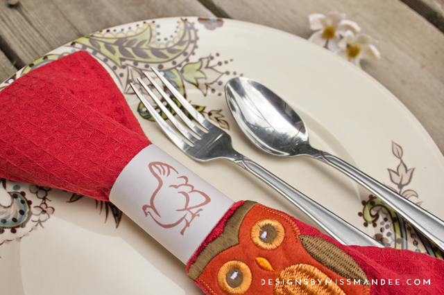 Printable Thanksgiving Napkin Rings