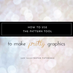 how to use the pattern tool to make pretty graphics