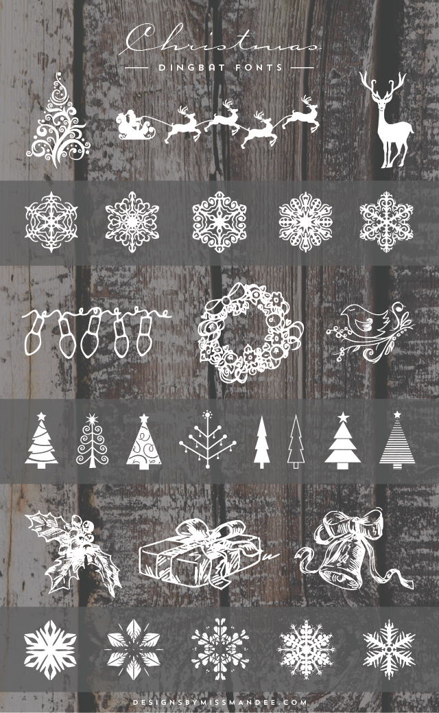 Christmas Dingbat Fonts