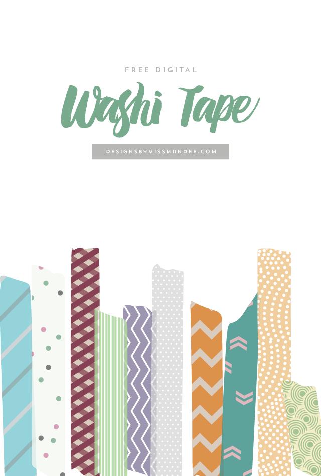 Free Digital Washi Tape