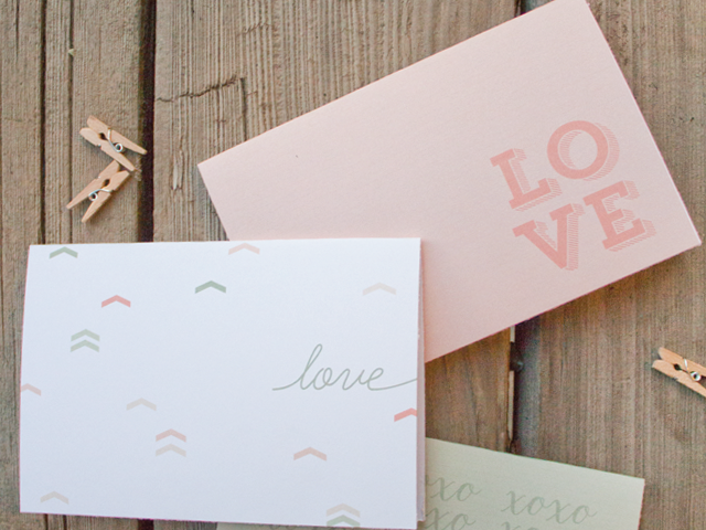 Pretty Printable Valentine Cards