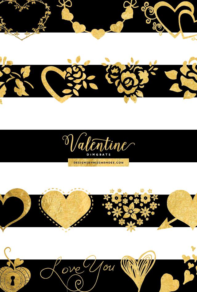 Valentine Dingbat Fonts