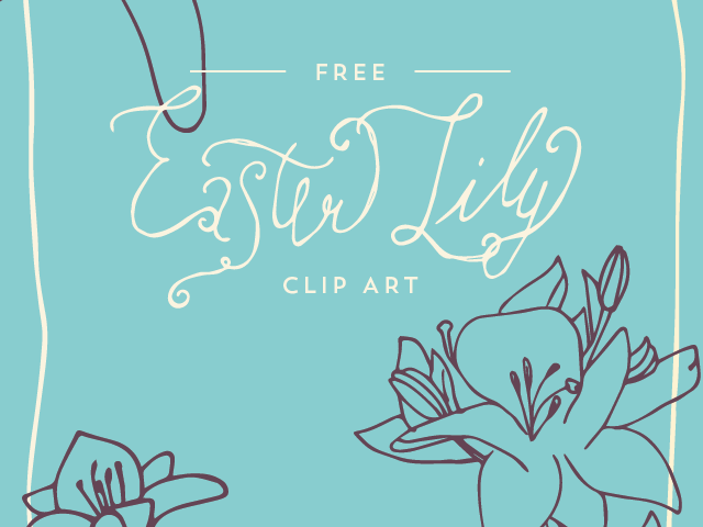 Easter Lily Clip Art