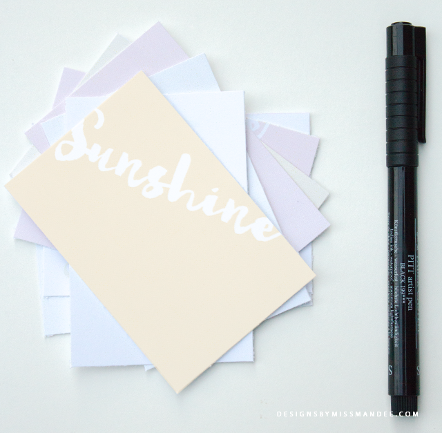 Printable Notecards for Summer