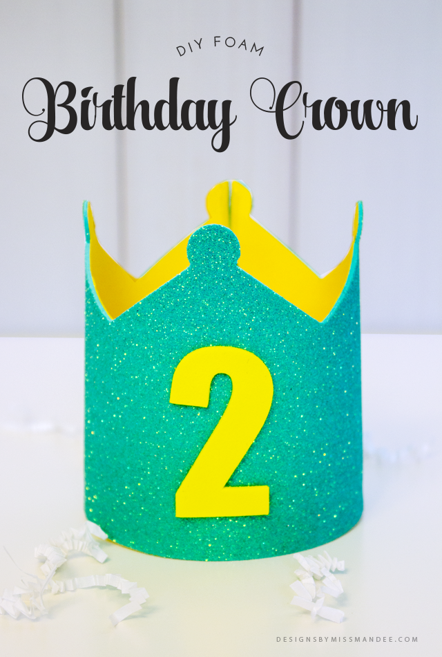 Cute Foam Birthday Crown
