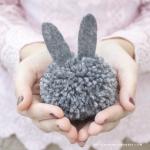 DIY Pom Pom Bunny Garland