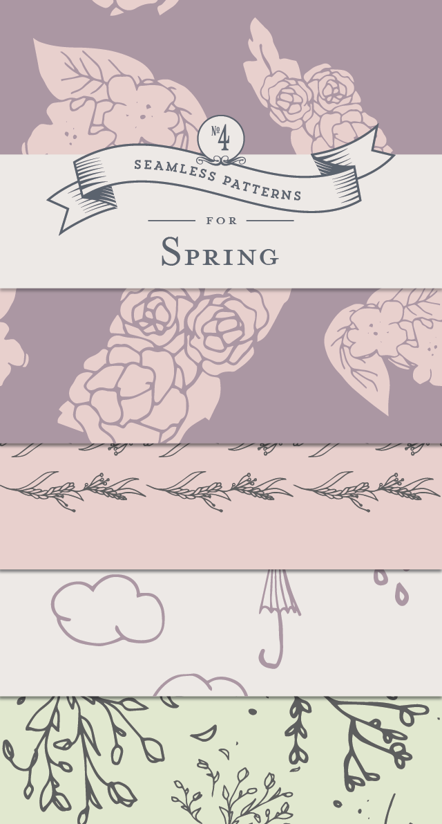 Spring Seamless Patterns