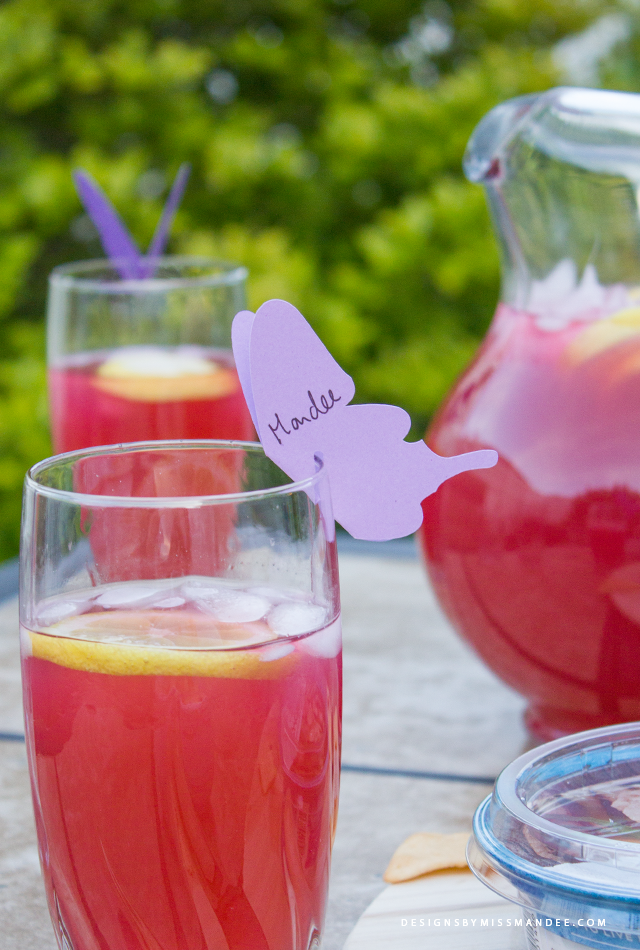Butterfly Drink Markers