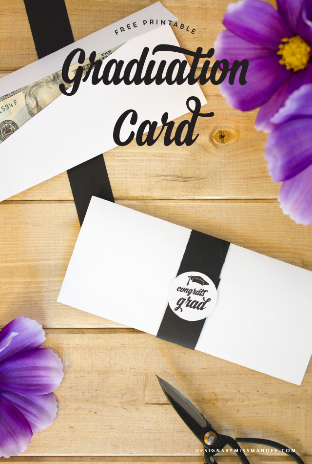 picture regarding Printable Grad Cards named Commencement Card - Income Holder Programs Via Skip Mandee