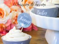 Pregnancy Announcement Cupcakes