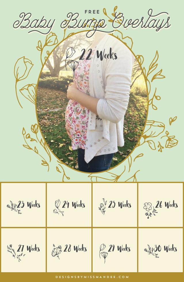 Baby Bump Photo Overlays