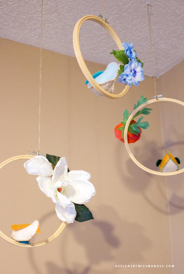 Hanging Bird Perch Mobile