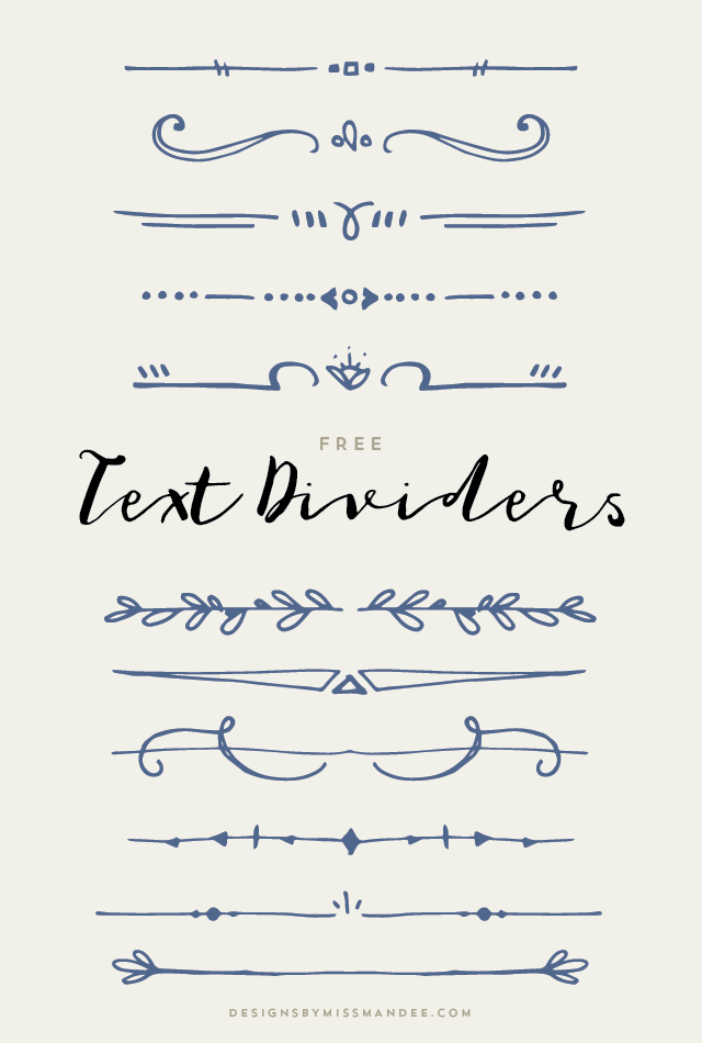 Text Dividers