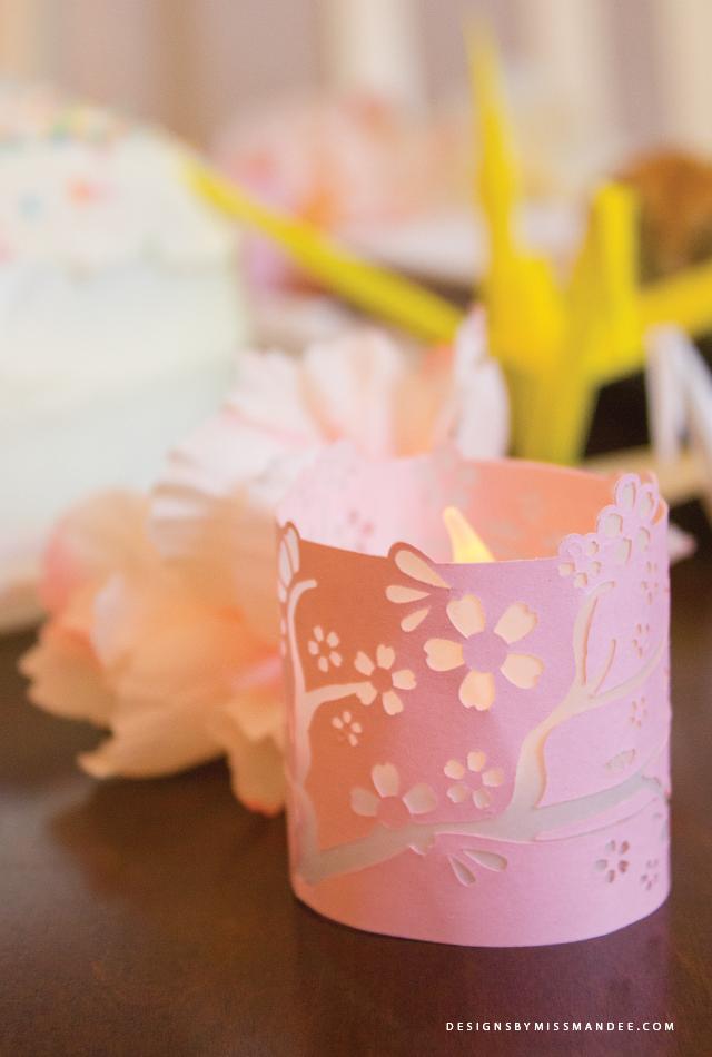 Cherry Blossom Tea Light Votive